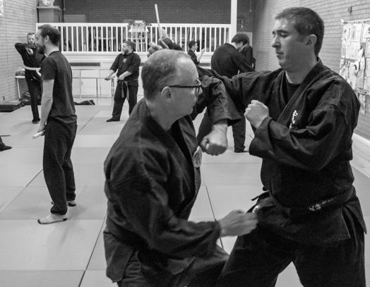 Training at Bujinkan Jishin Dojo